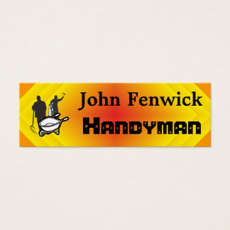 Handyman Service Mini Business Card