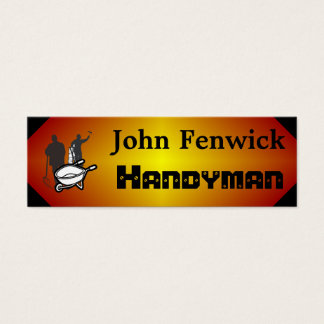 Handyman Service Red Mini Business Card