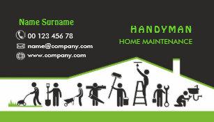 Handyman business cards templates zazzle handyman services home maintenance business card flashek Images