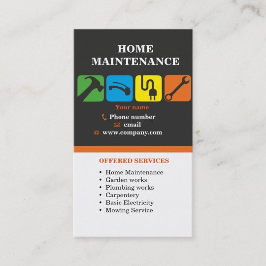 handyman services home maintenance business card zazzle com