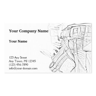 Handyman Sketch in Black and White Business Business Card Templates