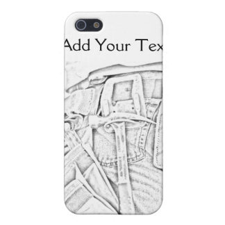 Handyman Sketch in Black and White Business iPhone SE/5/5s Cover