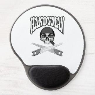 Handyman Skull Handsaws Gel Mouse Pad