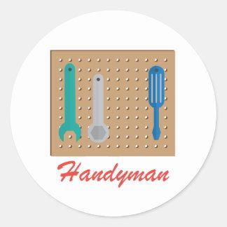 Handyman Round Stickers