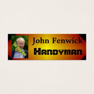 Handyman Template Mini Business Card