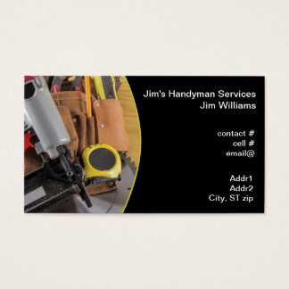 Handyman tool bag business card