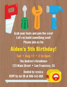 Tool invitations zazzle handyman tool boys birthday party invitations filmwisefo