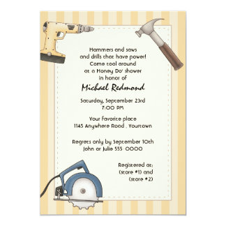 Handyman Tool Shower Invitation