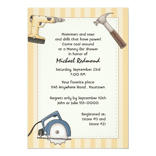 Handyman Tool Shower Invitation Zazzle Com
