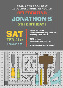 Tool invitations zazzle handyman tools birthday party invitation filmwisefo