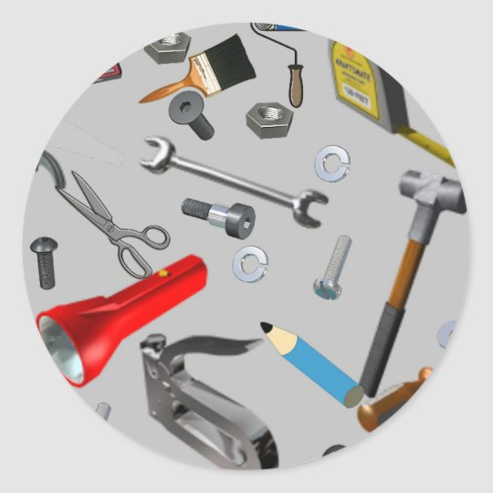 Handyman Tools Classic Round Sticker