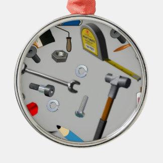 Handyman Tools Metal Ornament