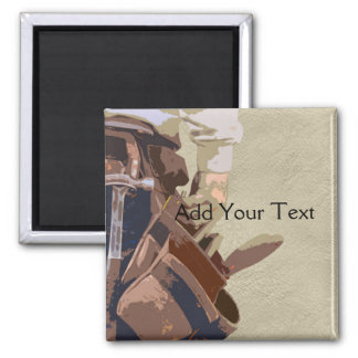 Handyman Tools Watercolor 2 Inch Square Magnet