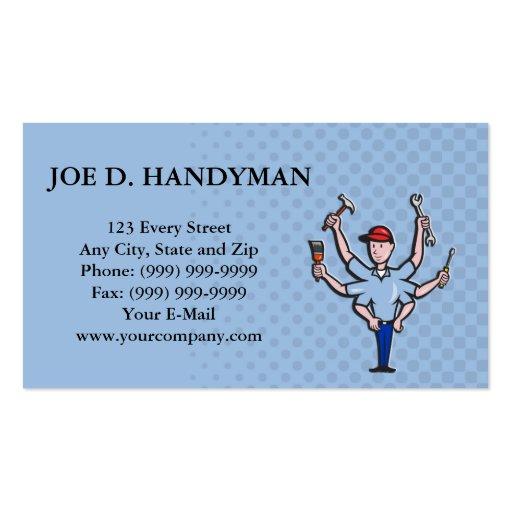 Handyman Tradesman Carpenter Mechanic Plumber Cart Business Card Templates