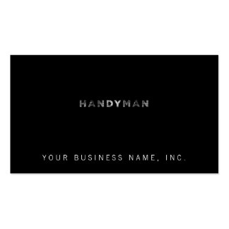 Handyman [White Letterpress Style] Business Card Templates
