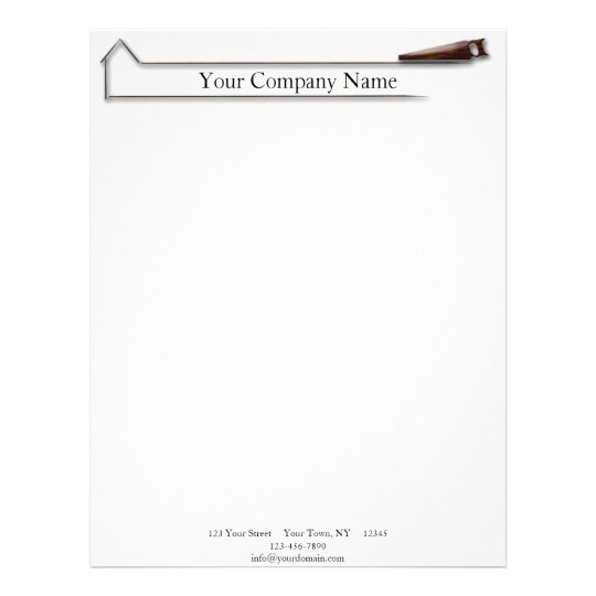 Handyman Wood Saw Business Letterhead