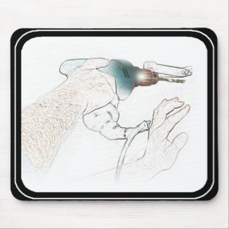 Handyman Working Hands Drill (Mr Fix-It) Mouse Pad