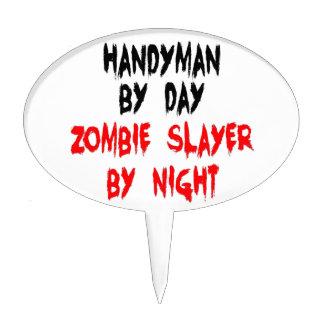 Handyman Zombie Slayer Cake Topper