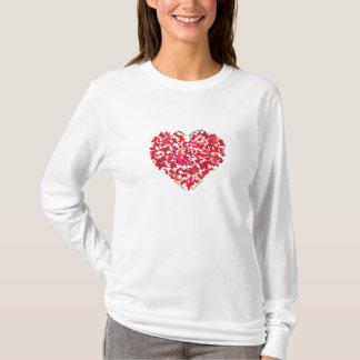 Hanes Long Sleve Butterfly Heart Art by Kevin Shea T-Shirt