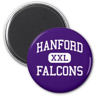Hanford - Falcons - High - Richland Washington 2 Inch Round Magnet