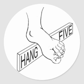 Hang 5 classic round sticker
