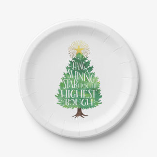 Hang a Shining Star Christmas 7 Inch Paper Plate