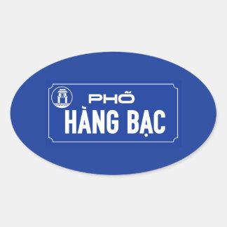 Hang Bac Street, Street Sign, Vietnam Oval Sticker