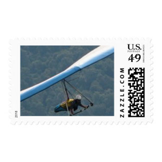 Hang Glding Over a Forest Stamp