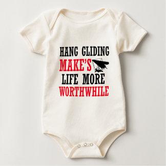 hang glide design baby bodysuit