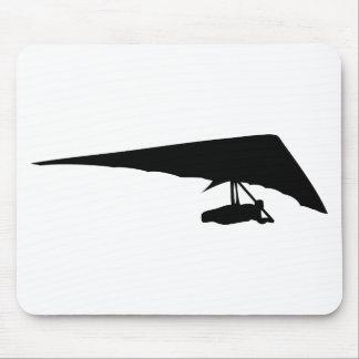 hang glider black icon mouse mats