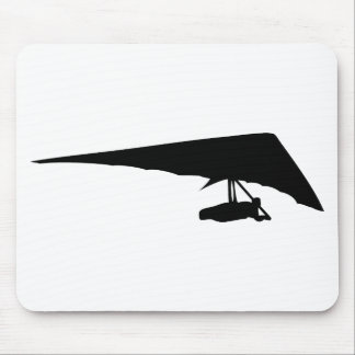 hang glider black icon mouse pad