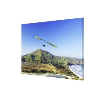 Hang Glider, Otago Peninsula, near Dunedin, Canvas Print