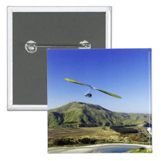 Hang Glider, Otago Peninsula, near Dunedin, Pinback Button