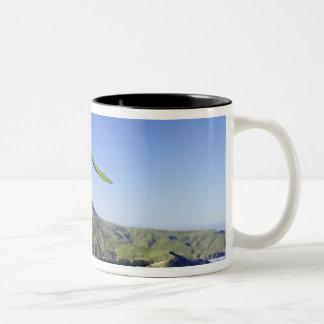Hang Glider, Otago Peninsula, near Dunedin, Two-Tone Coffee Mug