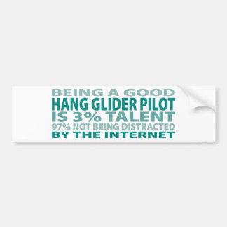 Hang Glider Pilot 3% Talent Bumper Sticker