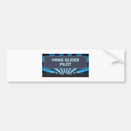 Hang Glider Pilot Marquee Bumper Sticker