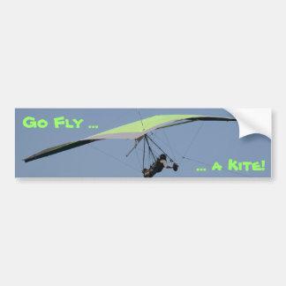 Hang gliding car bumper sticker