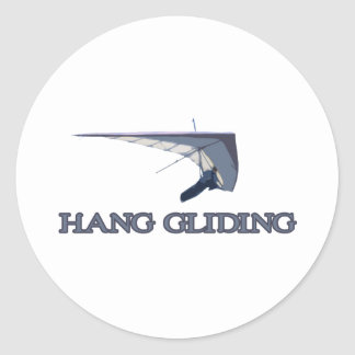 Hang Gliding Classic Round Sticker