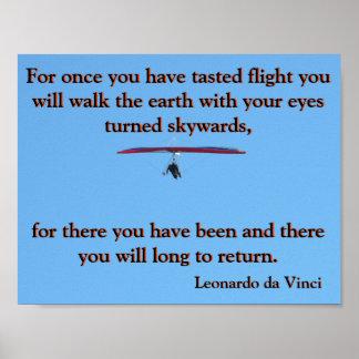 Hang Gliding Da Vinci Poster