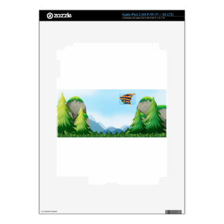 Hang gliding decal for iPad 3