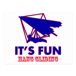hang gliding Design Postcard