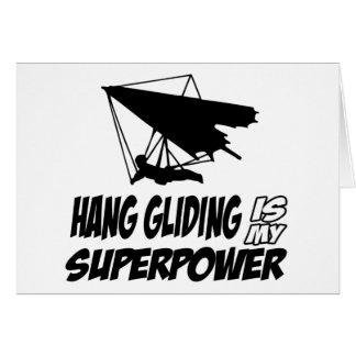 Hang gliding designs card