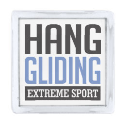 Hang Gliding Extreme Sport Silver Finish Lapel Pin