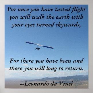 Hang Gliding Flight Poster
