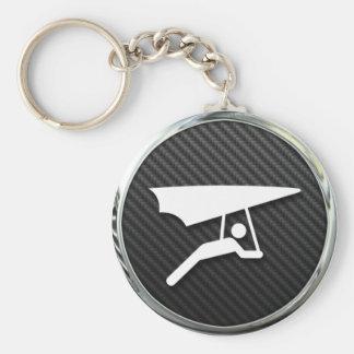 Hang Gliding Icon Basic Round Button Keychain