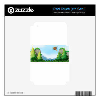 Hang gliding iPod touch 4G skins