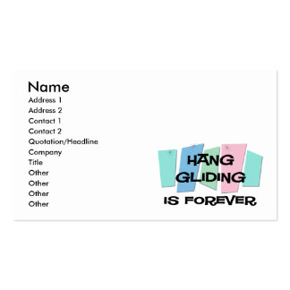 Hang Gliding Is Forever Business Card Templates