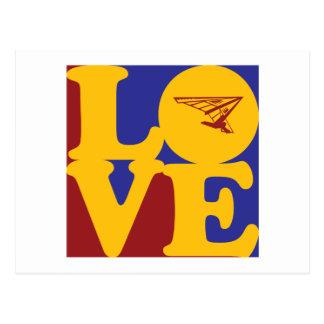 Hang Gliding Love Postcard