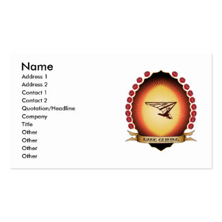 Hang Gliding Mandorla Business Card Template