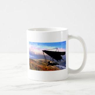 Hang Gliding Over the California Coast Coffee Mug
